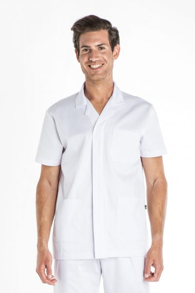 Aris Uniforms-MTU07-Men's Basic Short Sleeve Zip Tunic