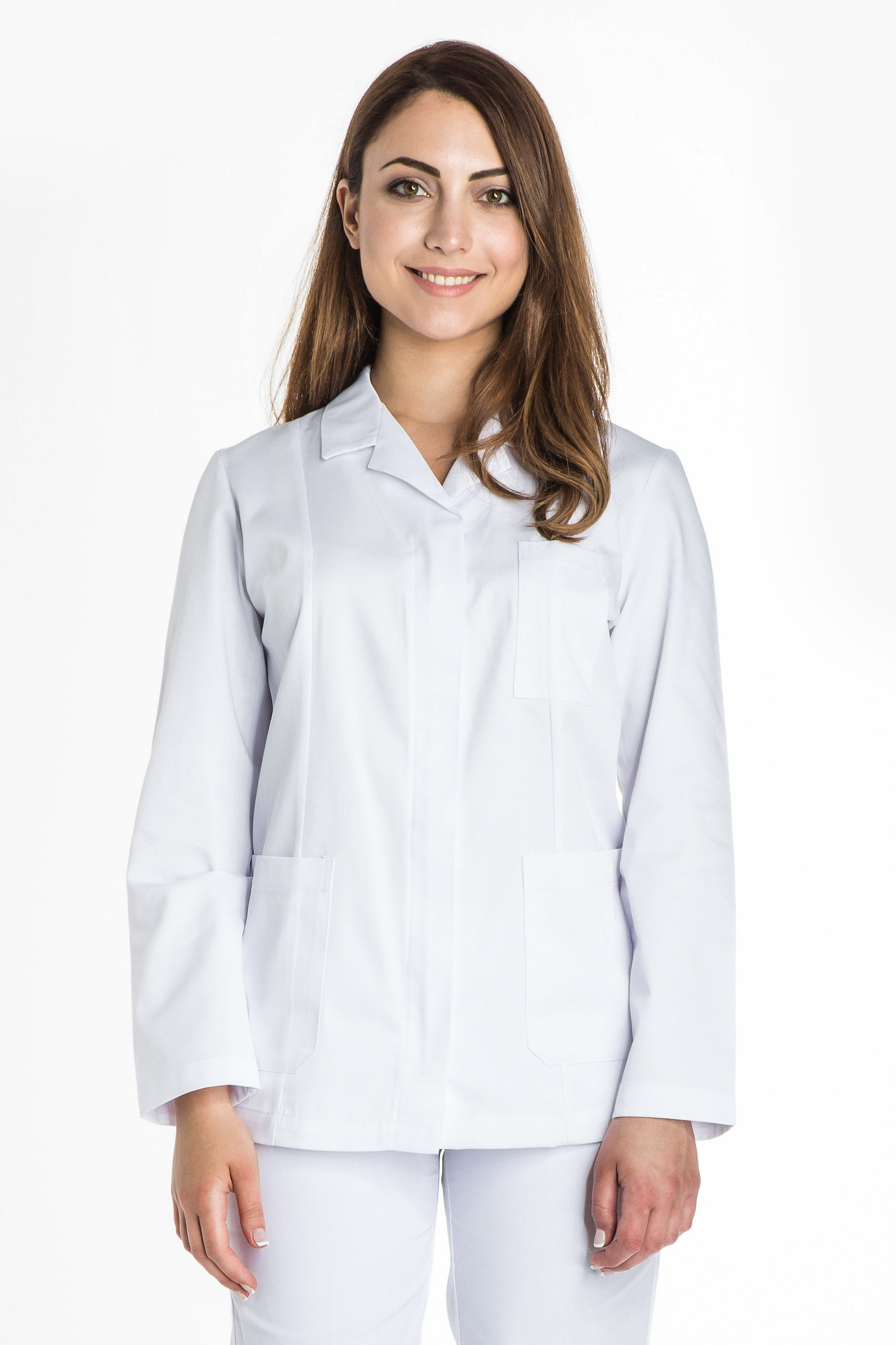 Aris Uniforms-FTU17-Women's Basic Long Sleeve Zip Tunic