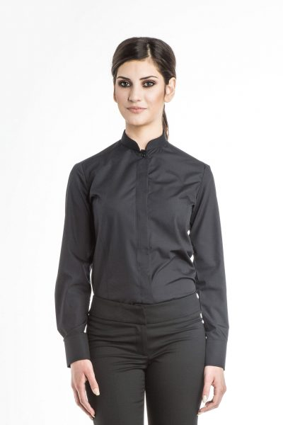 Aris Uniforms-FB03-Long Sleeve Manadarin Collar Blouse