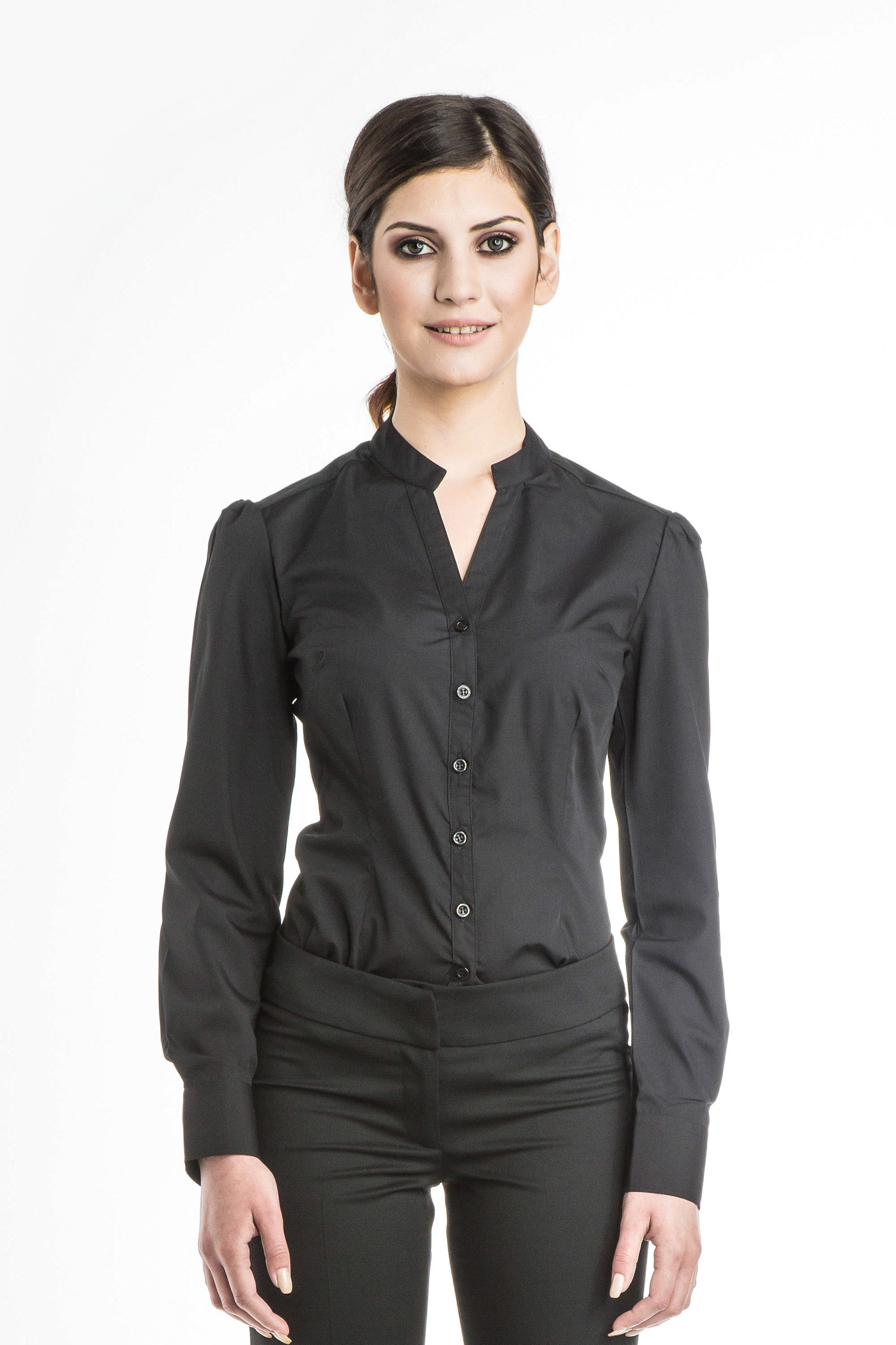 Aris Uniforms-FB16-Chloe Long Sleeve Blouse