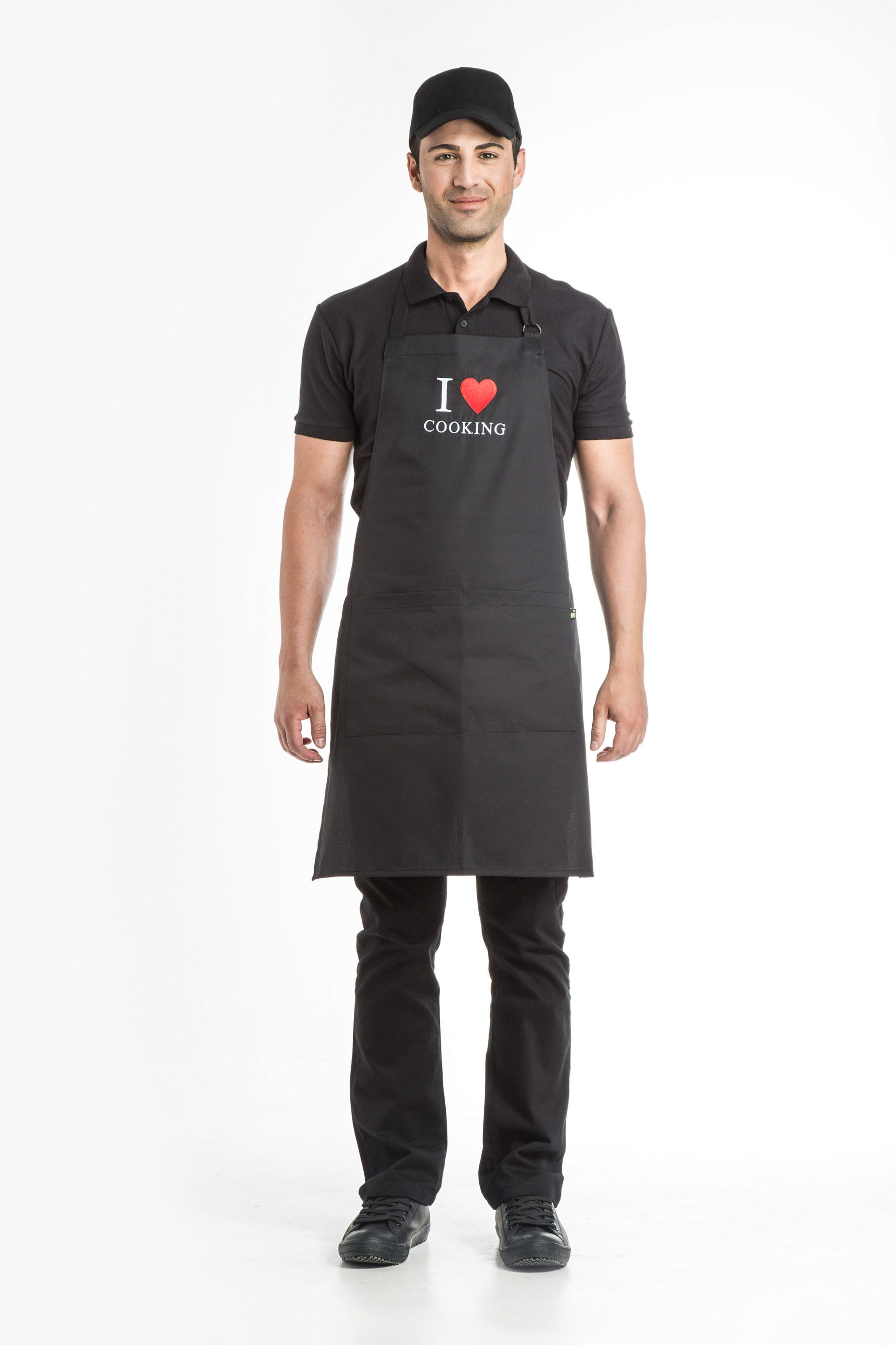 Aris Uniforms-UAH03-I Heart Cooking Apron
