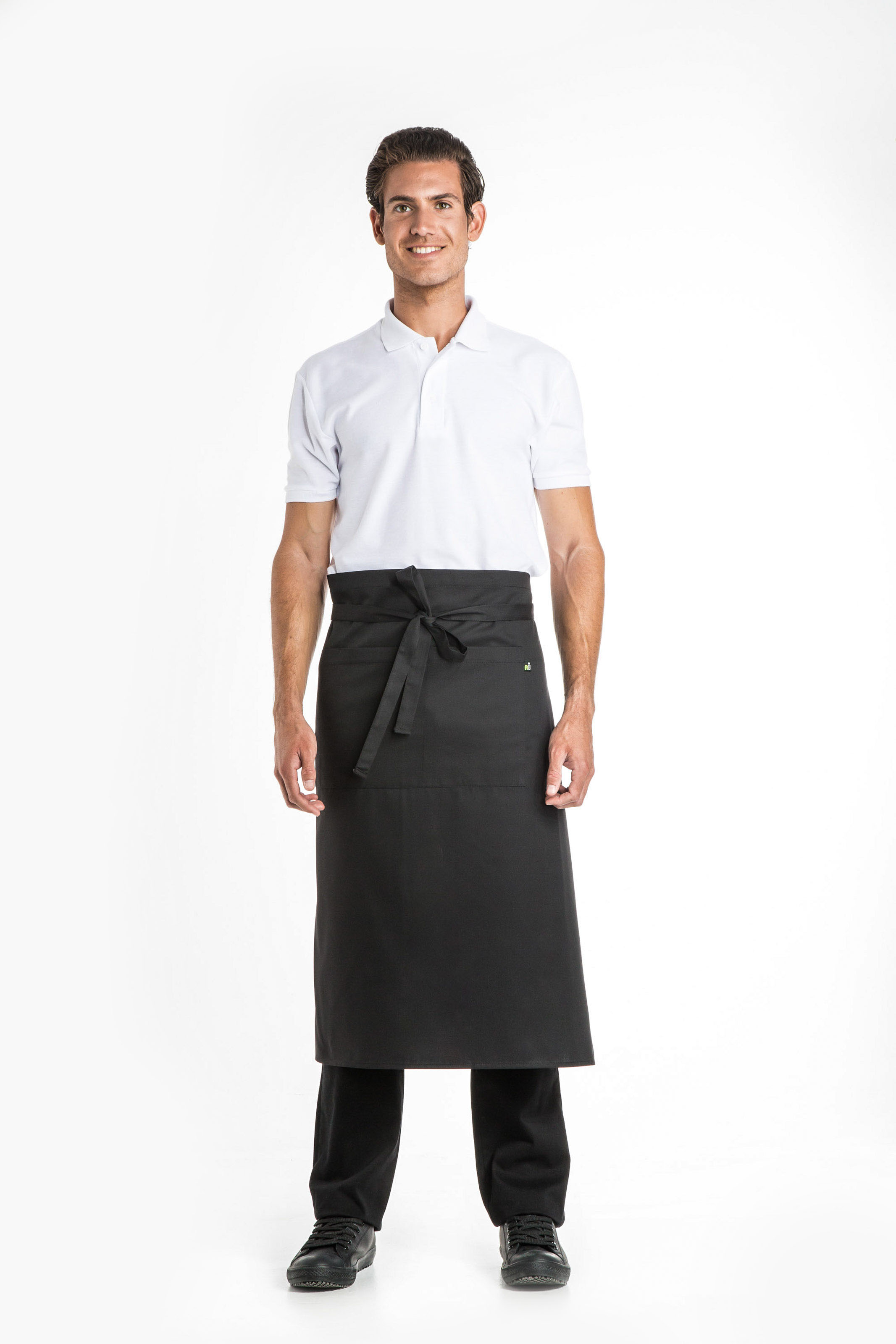 Aris Uniforms-UA04-Long Apron With Pocket