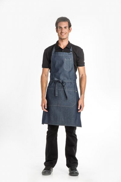 Aris Uniforms-UA43-Denim Bib Apron