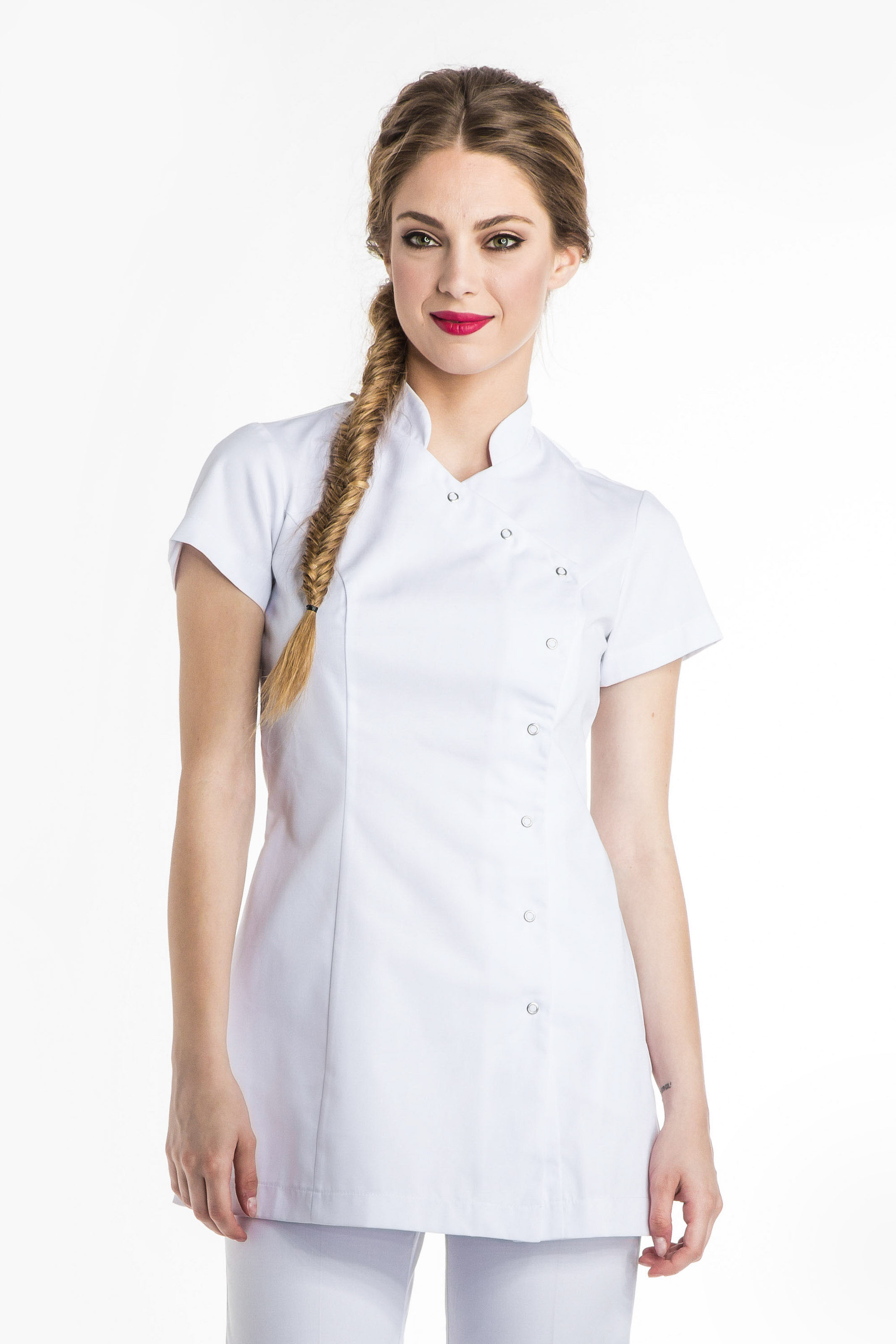 Aris Uniforms-FTU02-Women's Basic Asymmetrical Tunic