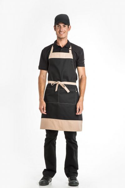 Aris Uniforms-UA37-Colour Block Bib Apron