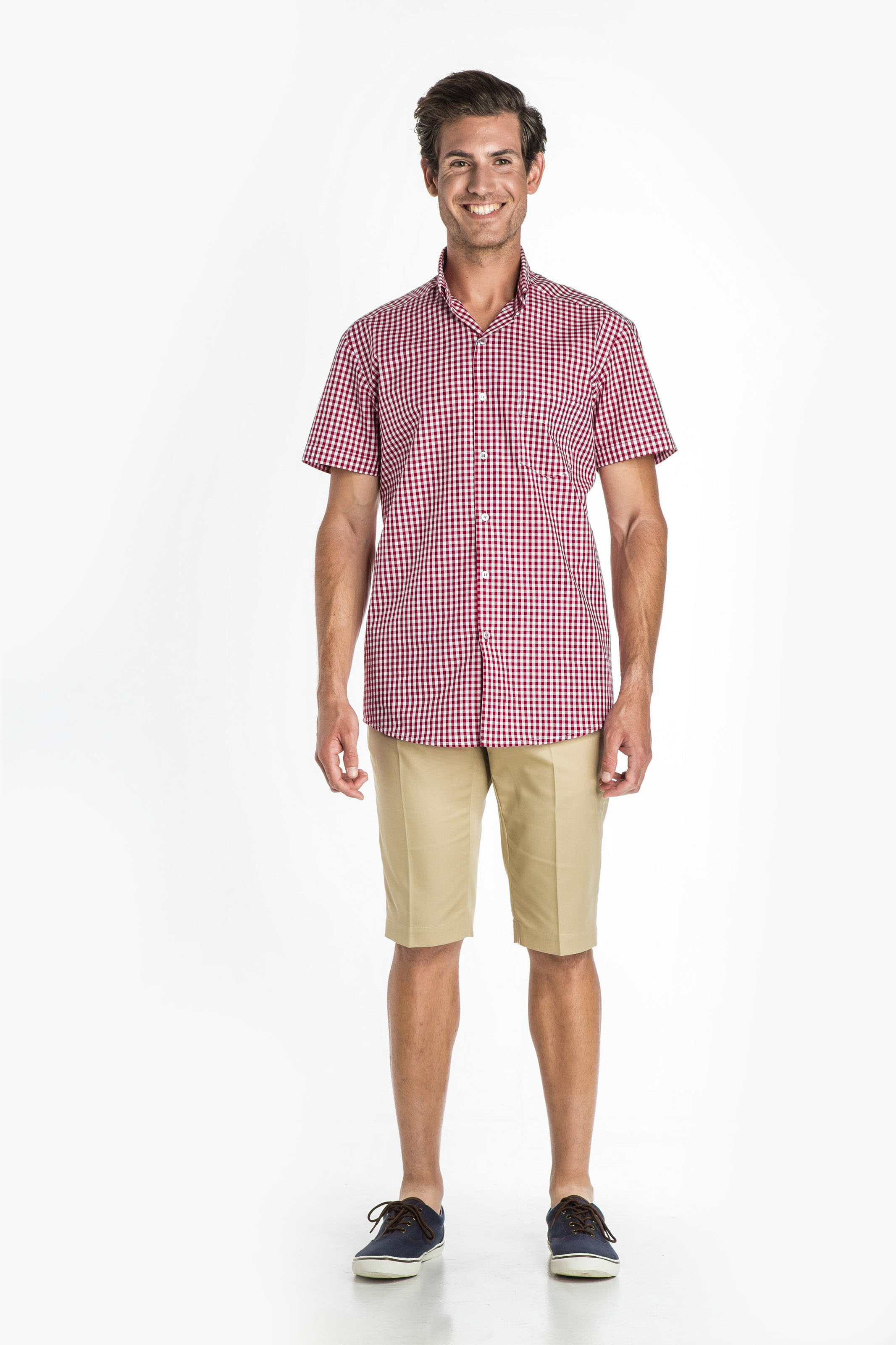 Aris Uniforms-MS15-Short Sleeve Check Shirt