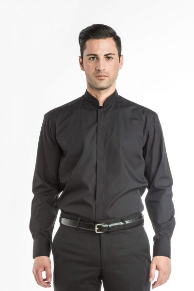 Long Sleeve Manadarin Collar Shirt