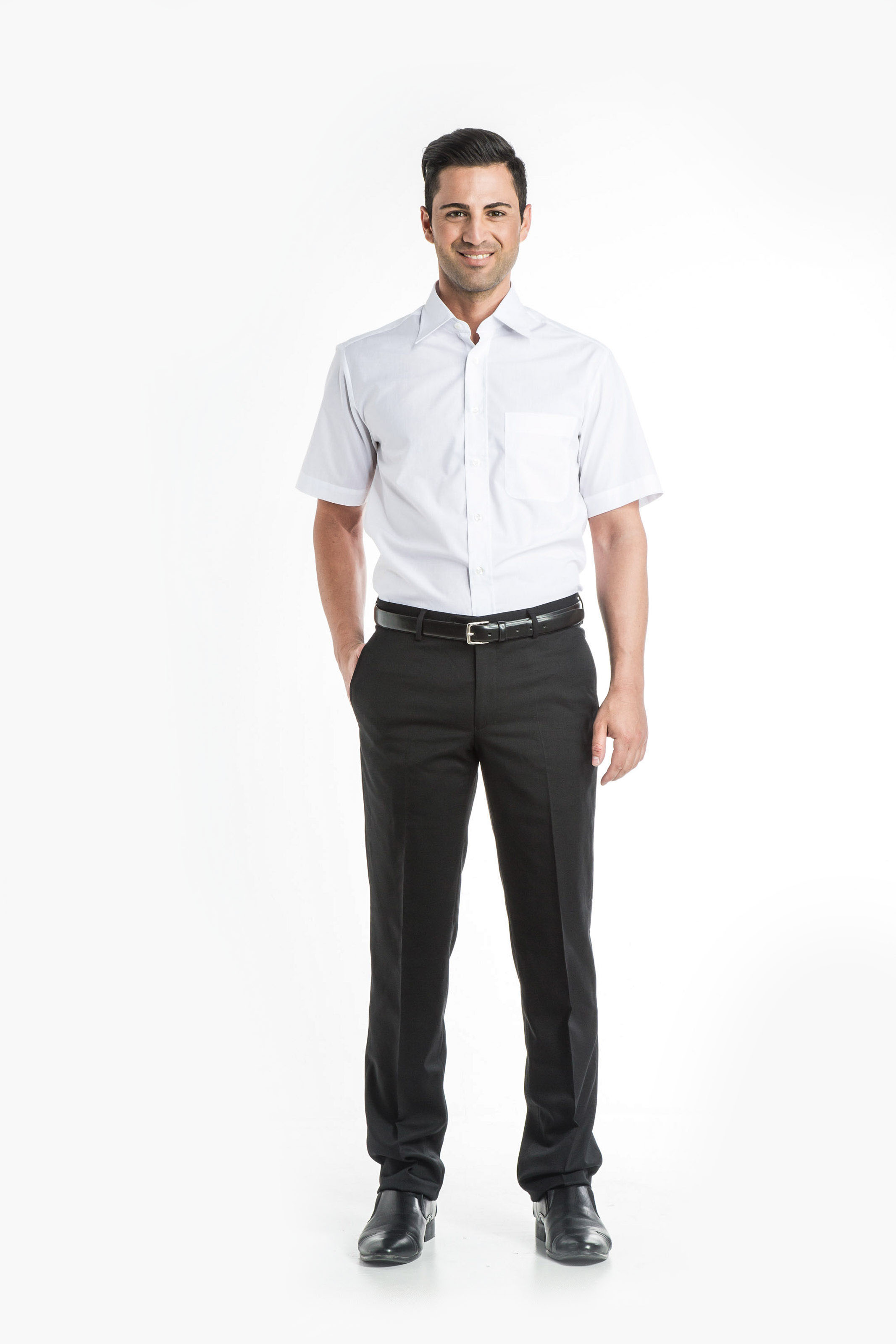 Aris Uniforms-MS01-Short Sleeve Classic Collar Shirt