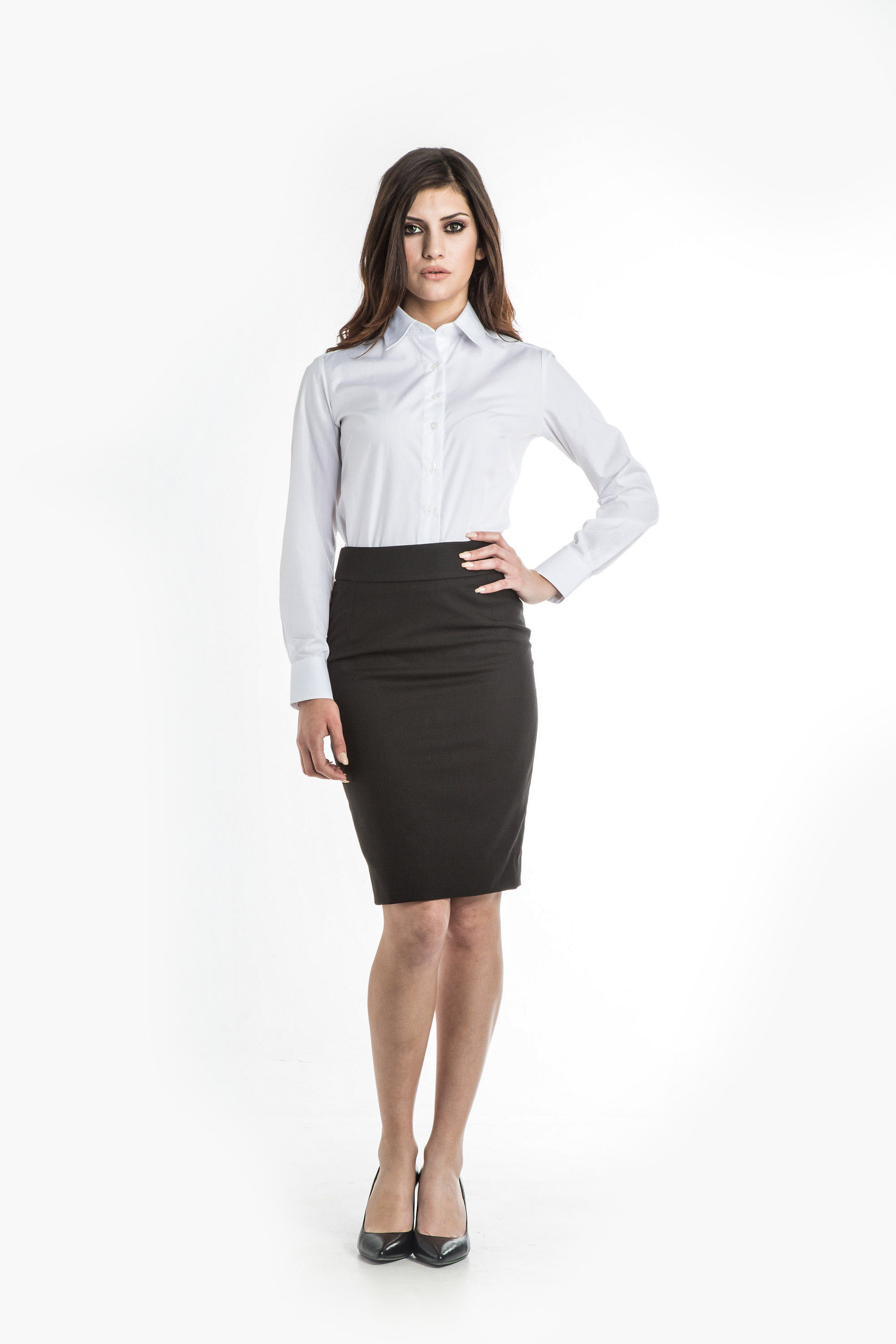 Aris Uniforms-FSK03-City Drop Waist Skirt