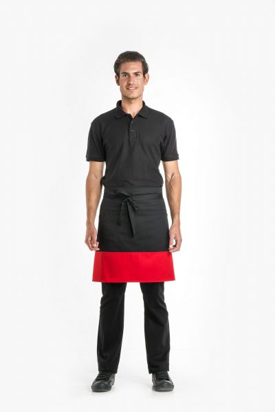 Colour Block Waist Apron