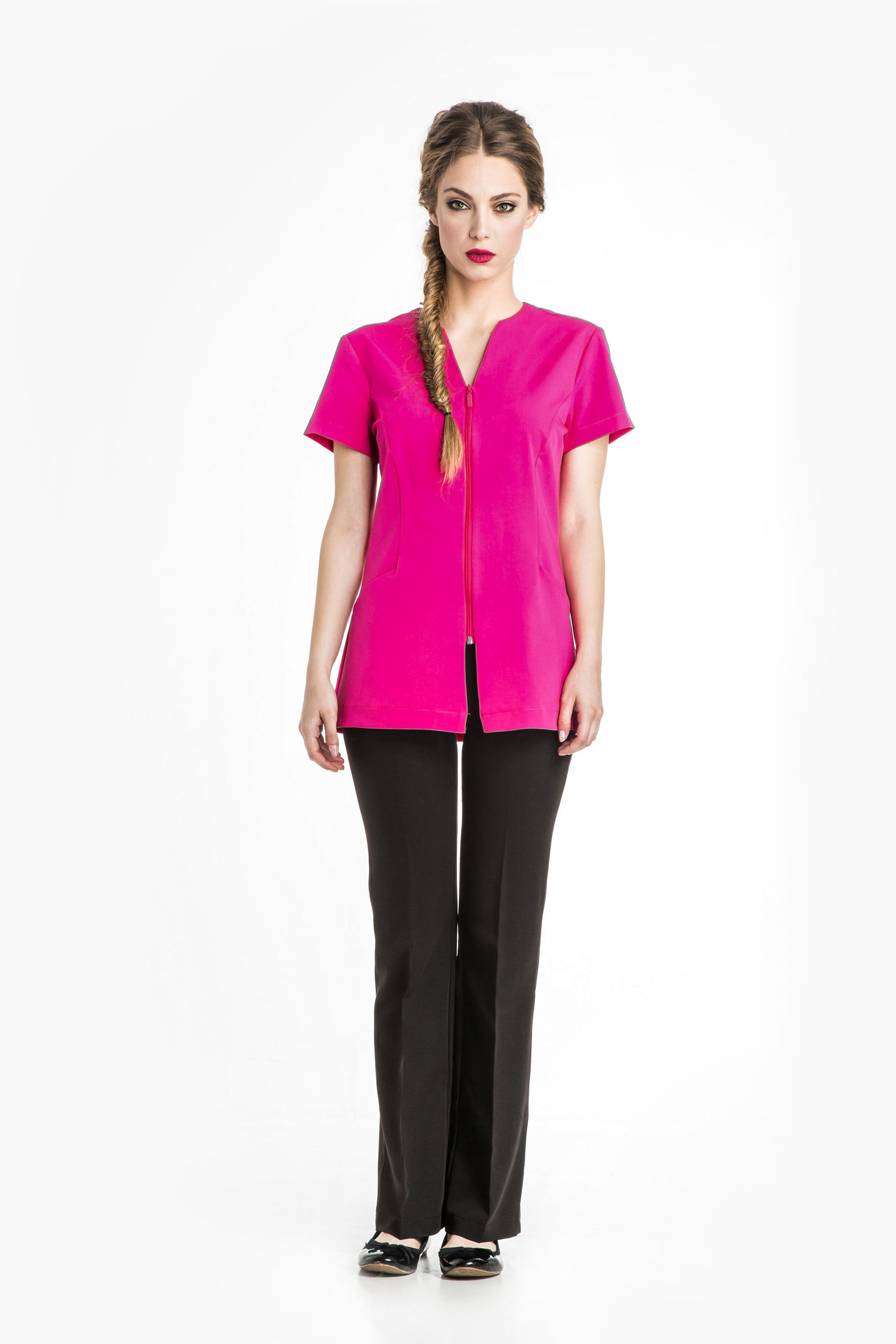 Aris Uniforms-FTU14-Selene Women's Collar-Less Zip Tunic